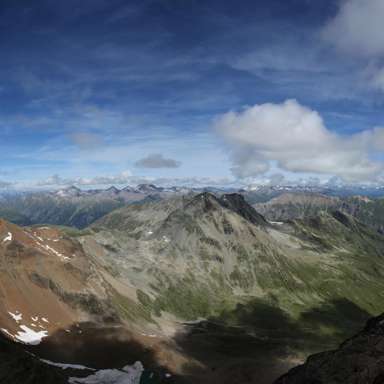Panorama-Bild in Bergen, aufgenommen aus grösser Höhe
